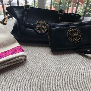 ToryBurch Amanda Mini Satchel w/ matching wallet